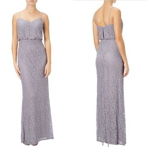NEW Adrianna Papell Lace Blouson Gown in Dove